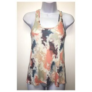 Rubbish | Watercolored Relaxed Fitted Tank Top EUC